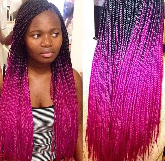 couloured braids